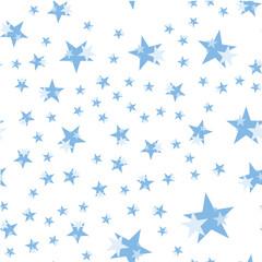 Seamless pattern, set stars on a white background. Flat vector illustration EPS 10