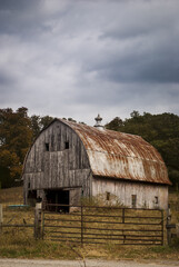 Old barn on the hillside