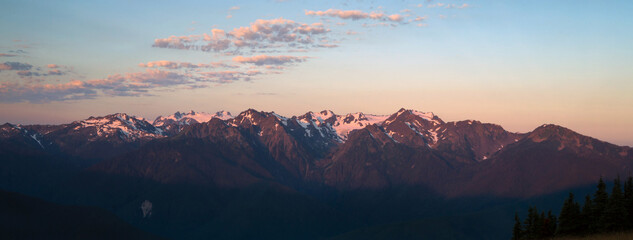 Olympic Mountains National Park Sunrise Hurricane Ridge