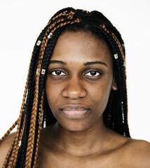 A girl in a Studio shoot