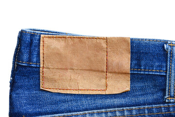 leather label jeans