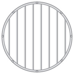 Round grid with vertical rods