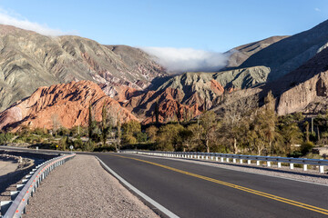 Route in the town of Purmamarca, UNESCO World Heritage Site, Jujuy, Argentina