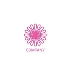 Flower selling or salon company logo