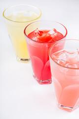 Different lemonade drinks