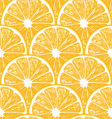 Orange slices seamless pattern. vector illustration element for design.