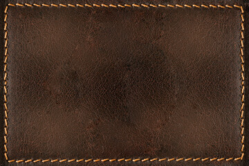 Brown leather background with seams Wall mural