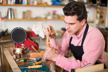 Joiner working in workshop