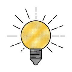 light bulb electric vector icon illustration graphic design