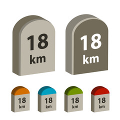 3d milestone boundary stone vector