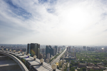 Guomao CBD city landscapes in Beijing, China.Central business district