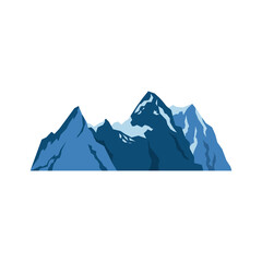 snow mountains peak alpine landscape image vector illustration