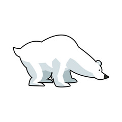 cartoon cute polar bear wild artic vector illustration