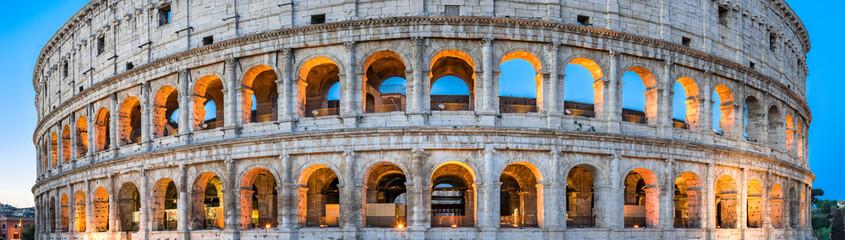 Poster de jardin Rome Kolosseum in Rom Panorama