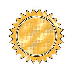 yellow sun sunlight, summer climate symbol vector illustration