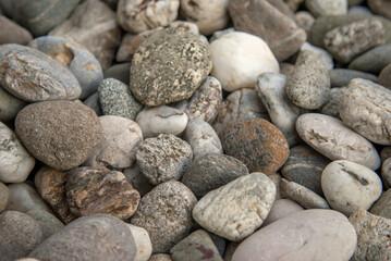 river stones pattern close