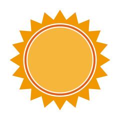 sun light energy sunlight symbol. vector illustration