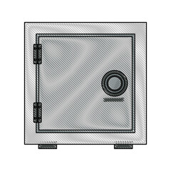security metal safe money, close lock bank. vector illustration