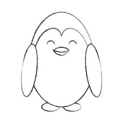 cute sketch penguin cartoon vector graphic design