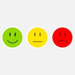 Cartoon faces expressions vector set