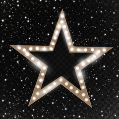 Star. Retro light. Vector illustration