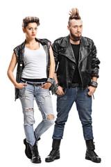 Female and male punker