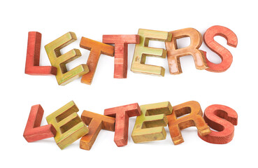 Word made of wooden letters isolated