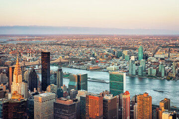 Aerial view on Midtown East NY