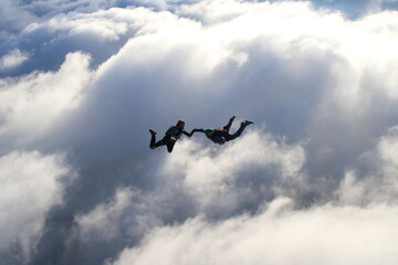 Skydiving in Norway Wall mural