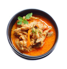 Red curry with pork.