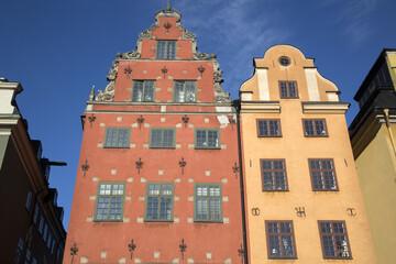 Colorful Building Facades, Stortorget Square, Gamla Stan - City Centre, Stockholm