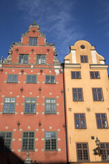 Colorful Building Facade, Stortorget Square, Gamla Stan - City Centre, Stockholm