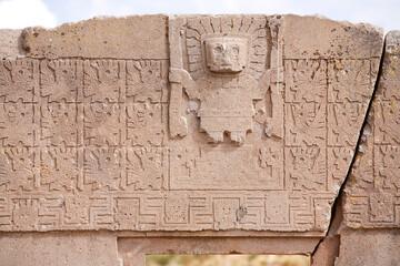 puerta del sol on Tiwanaku, Bolivia