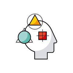 head geometric illustration icon vector illustration desgn graphic