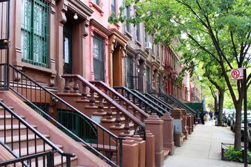 Brownstones à Harlem (New York - USA)