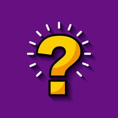 bright question mark image vector illustration design