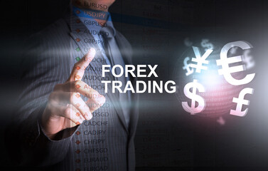 Investor decision on forex graph threme