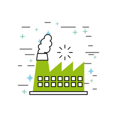 chimney image illustration icon design vector graphic