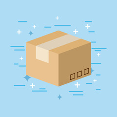 box flat image icon vector illustration design graphic