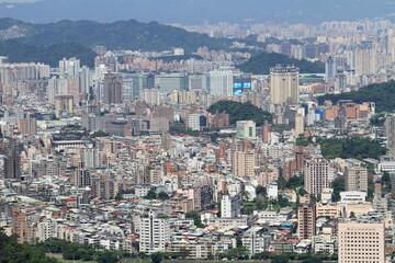 猫空から見た台北市街