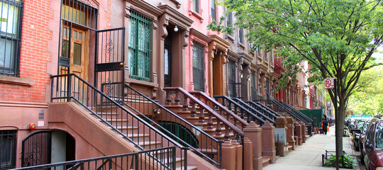 Brownstones à Harlem (New York - USA)
