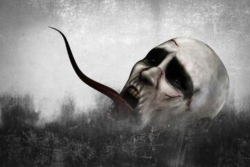 3d illustration of Scary monster