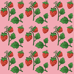Vector of  strawberry pattern design.