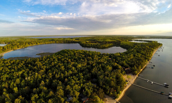 Aerial View over Pelican Lake, MN