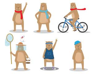 bear animal character cartoon vector illustration