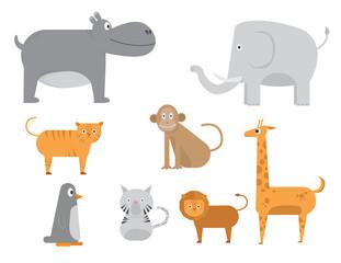 animal pack cartoon vector illustration