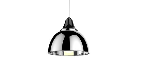Isolated black color shiny pendant lamp 3d illustration concept