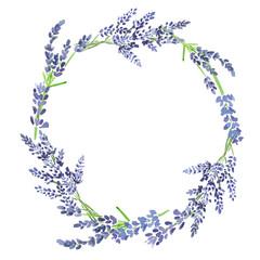 Watercolor lavander wreath