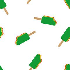 seamless vector rasta ice cream pattern