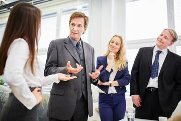 Negotiation between business people